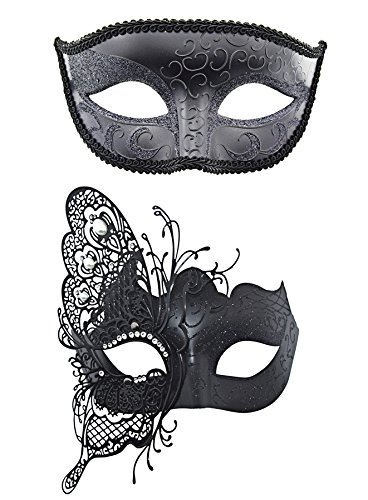 Couple-Masque-vnitien-Mascarade-Masque-papillon-en-mtal-dcoup-au-laser-de-mardi-gras-masque