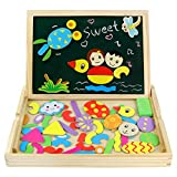 Best Gifts For 3 Year Olds - Magnetic Drawing Board Game Double Sided Blackboard Wooden Review
