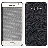 atFolix Samsung Galaxy Grand Prime Skin FX-Wave-Black Designfolie Sticker - Fühlbare Wellen-Struktur