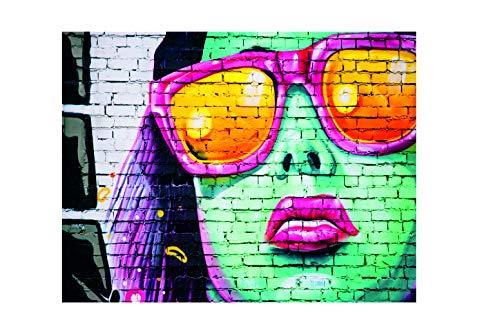 Ecool Neon Wandschild mit Sonnenbrille, Retro-Stil, Shabby Chic, Vintage-Stil, Metall, 200 mm x 150 mm