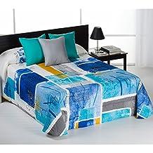 Edredón Conforter Modelo Georgia, Color Azul, Medida Cama 135