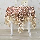 Nclon Europäische Glas-garn Tischdecke, Coffee Table Esstisch Spitze Tischtuch tischwäsche, Runden Rechteckige Rechteckige-Rotwein 90 * 90cm