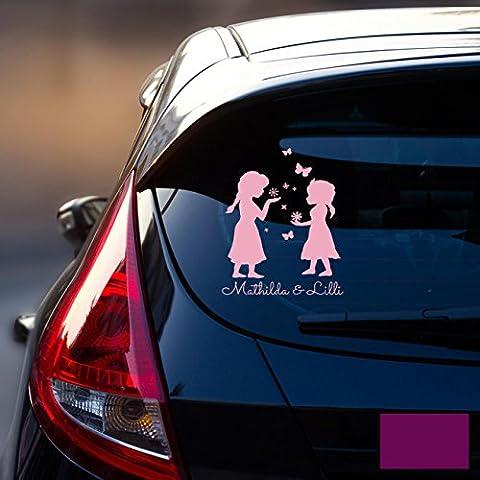 Auto adesivo lunotto posteriore veicolo adesivo adesivo baby regina delle nevi Frozen bambini m1872, lavanda, L - 22cm breit x 30cm hoch