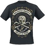 Saltatio Mortis Anchor Skull T-Shirt schwarz L