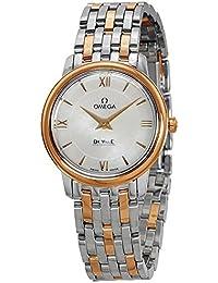 Deville Prestige Mutter von Pearl staless Stahl und 18kt Gold Damen Armbanduhr