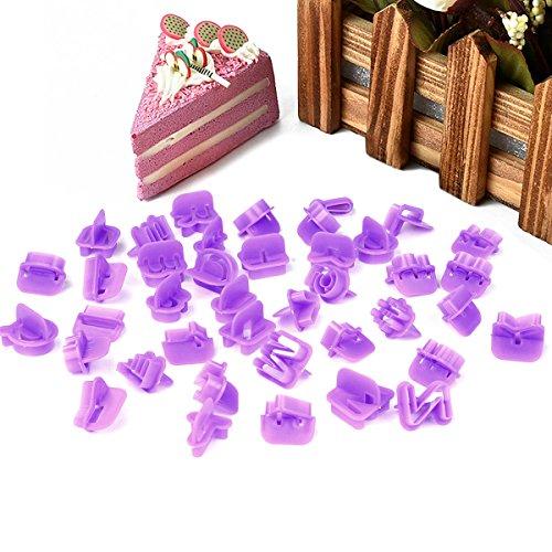 SKR fondente TAGLIAPASTA CUORE lettere 40pezzi espulsore timbro Alfabeto Numeri zeichensetzung lettere Coniglio decorazione torta decorazione Set torta cuocere