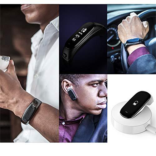 Uhren Fitness Armband mit Pulsmesser Wasserdicht Tracker Smartwatch Pulsuhr Schrittzähler Bluetooth Blutdruck-Herzfrequenz-Messgerät Earband Support Siri Ans