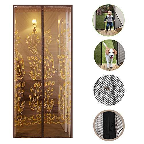 YSA Magnet Fliegengitter Tür mit Heavy Duty Mesh Vorhang, Hände frei Bugs Off Door Screen mit Magneten Anti Moskito Pest-C 160 * 220cm (63x87inch) -