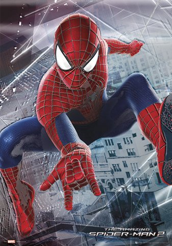 the-amazing-spiderman-2-webslinger-metallizzato-poster-stampa-dimensioni-47-x-67-cm