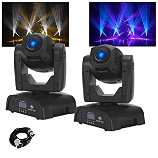 2x American DJ Pocket Pro Moving Head DJ Disco LED Lighting Effects & Cable
