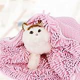 LaiXin Dog bathrobe Zellar Microfibre Towel Pet Robe Cat Towel Quick Drying and Fast Absorbent Drying Pyjamas Rosa - 50cm