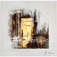 Moderna pittura a olio–Oro–Firmato da Martin Klein–80x 80cm