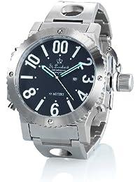 St. Leonhard Armbanduhren Herren: Wasserdichte Oversize-Quarz-Armbanduhr aus Edelstahl (5 atm) (Armband-Uhren für Männer)
