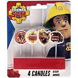 Amscan International Feuerwehrmann Sam Mini Pick Kerzen