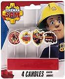 """Amscan International """"Feuerwehrmann Sam""""-Mini-Kerzen zum Einstecken"""