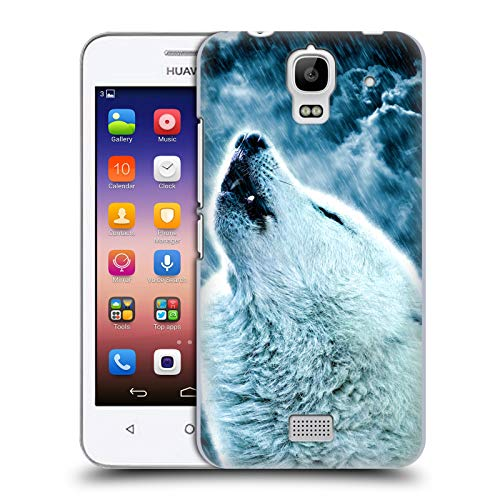Head Case Designs Offizielle Simone Gatterwe Heulender Wolf Tiere 2 Harte Rueckseiten Huelle kompatibel mit Huawei Y360 / Y3