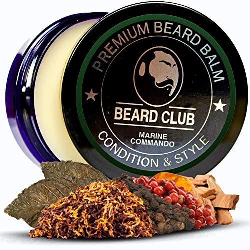 Premium Qualitäts Balsam für den Bart | Marine Commando | Natürlich Bartbalsam | Der beste Bart Conditioner & Weichmacher, um Ihren Bart zu stylen, während Sie Bart Juckreiz & Flakes stoppen - Weichmacher Conditioner