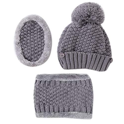 XuxMim Unisex Multifunktions Winter Warm Plus Samt Strick Slouchy Masks Mützen Kragen