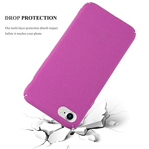 Cadorabo - Hard Cover Slim Case Mat en Design FROSTY pour Apple iPhone 7 - Housse Bumper Coque in FROSTY-NOIR FROSTY-ROSE-VIF
