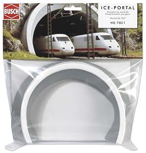 Busch 7021  - ICE boca del túnel, de 2 pistas HO importado de Alemania