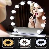 ANSTEN Luci Specchio per Lo Stile di vanità LED di Hollywood, Kit luci Trucco Specchio con 3 modalità di Colore, di Illuminazione per Tavolo da Trucco Set in Camera da Letto spogliatoio - 10Pcs
