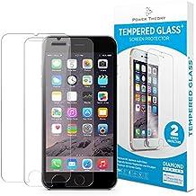 Cristal templado iPhone 6/6s- protector pantalla (2 unidades) ultrafino (0.33mm), ultraresistente (9H) con kit de instalación sin burbujas de Power Theory