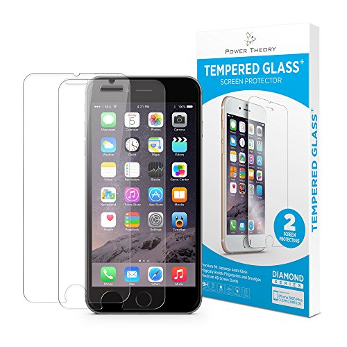 Power Theory iPhone 6/6s Panzerglasfolie (2 Stück) - Japanische 9H Panzerglas Folie, HD Displayschutzfolie/Panzerfolie, Tempered Glas Schutzglas, Handy Hartglas Schutzfolie, Screen Protector Glass