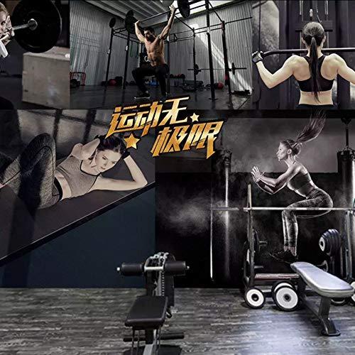 Dalxsh Benutzerdefinierte Fitness Fitness Übung Fitnessstudio Gesundheit Gebäude Gesundheit Hintergrund Tapete Stereoskopische 3D Wandbild-250X175Cm (Gesundheit Gebäude)