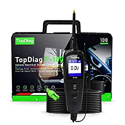 TopDiag P100 Automotive Circuits Testers Profession Vehicle Electrical System Analyzer Auto Diagnostic Tools Multi-function Power Probe (Short/Open Circuit Detector)
