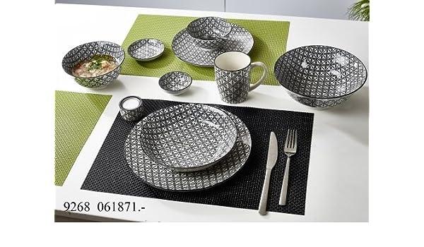 Flirt by R/&B Geschirr-Serie Takeo Stripes Gr/ö/ße 6er Set M/üslischale 15,5 cm Takeo Stripes