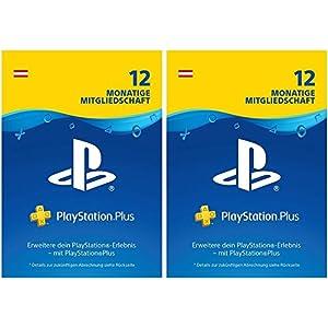 PlayStation Plus Mitgliedschaft | 24 Monate | PS4 Download Code – österreichisches Konto  – 12 + 12 Monate Edition | PS4 Download Code – österreichisches Konto