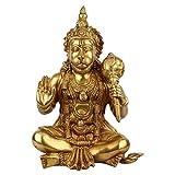 statuestudio indischen Big Hanuman Statue sitzend, glänzend