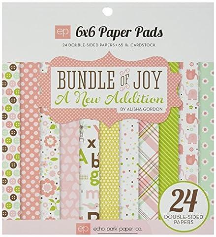 ECHO PARK Paper Doppelseitig Pad 6x 624/pkg-bundle der Freude/Eine neue