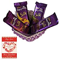 Valentines Day Chocolate Gift | Valentine's Day Gift Combo for Him, Her, Husband, Wife, Loved Ones, Girl Friend | Valentine's Day Greeting Card | Valentine Chocolate Hamper | 1603
