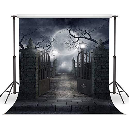 (LYWYGG 10x10FT LYWYGG 10X10FT Halloween Kulissen Vinyl Foto Hintergrund Fotografie Hintergrund Mond Nacht Hintergrund Studio Prop CP-52-1010)