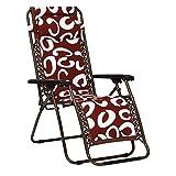 WSSF- Baumwolltuch Recliner Klappliege Einstellbare Haushalt Büro Freizeit Coole Mittagspause Deckchairs Schwangere Frauen Ältere Rückenlehne Lazy Sun Lounger Collapsible (Farbe : Red)