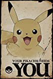 Pokemon Pikachu Needs You Poster Mehrfarbig