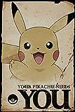 GB Eye LTD,Pokemon, Pikachu Needs You, Affiche 61 x 91,5 cm