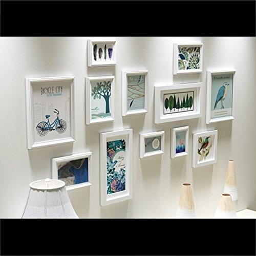 Lpymx parete in legno massello europeo parete attrezzata moderna minimalista per la casa cornice per foto cornice per foto - combinazione fotogramma foto (colore : b)