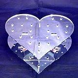 Super Cool Creations 200x 65x 160mm Acryl Herz geformter Spiegel Cake Pop-Ständer mit 15Löcher 5cm Apart, silber