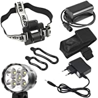 3 Modalità 6400 Lumen 5 x CREE T6 XML LED Bici Luce Bike Light bicicletta lampada frontale Per Outdoor Sports Bicycle Ciclismo MTB ,Camping, Hiking, Caving expedition LD186