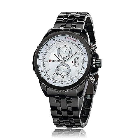 wishar Wasserdicht einfach Business Herren Armbanduhr Wasserdicht Geschenk Uhren, Fashion Trend Quarz Leder Uhren