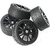 powerday® 4pcs 17 mm Hub rueda llanta y neumáticos neumáticos para 1/8 Off