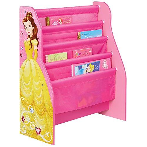 Disney Princess 866022 Bibliothèque à Pochettes pour Enfant Bois, Multicolore, 23 x 51 x 60 cm