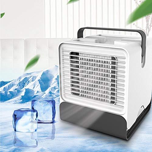 Mobiles Klimagerät Mini, Womdee 3 In1 LuftküHler Mini Klimaanlage Tragbar mit Tragbarem Griff und Nachtlicht, Kleiner Kühlluftbefeuchter für Zuhause, Büro oder Schlafzimmer (Weiß)