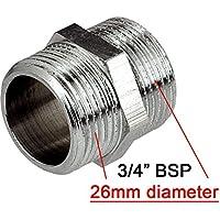 """3/4 """"x 3/4"""" rosca BSP tubo de conexión macho x macho accesorios Muff"""