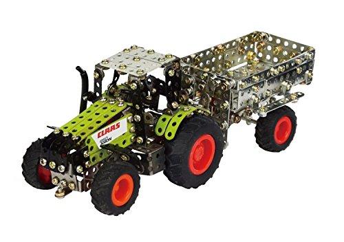 RC Auto kaufen Traktor Bild 6: Tronico 09501 - Metallbaukasten Traktor Claas Axion 850 mit Kippanhänger und Fernsteuerung, Maßstab 1:64, Micro Serie, grün, 462 Teile*