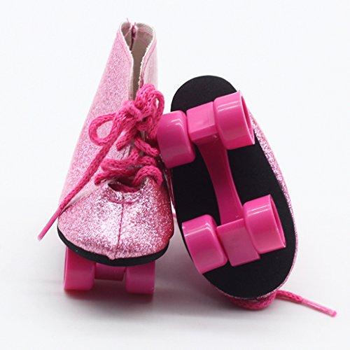 baoblaze mode puppen rollschuhe roller skates schuhe f r. Black Bedroom Furniture Sets. Home Design Ideas
