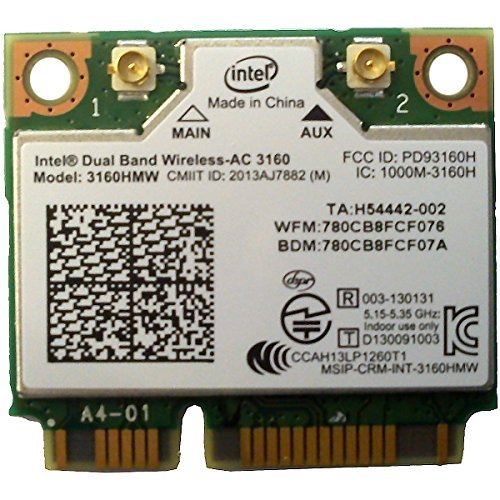 INTEL Dual Band Wireless-AC 3160  1x1 AC + BT  HMC