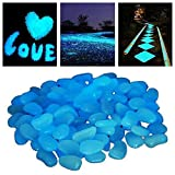 StillCool Beautiful Glow Luminous Pebble Stone Garden Paving Artificial Pebble Airstone Flou Reszierende Pebbles 100/200 Piece
